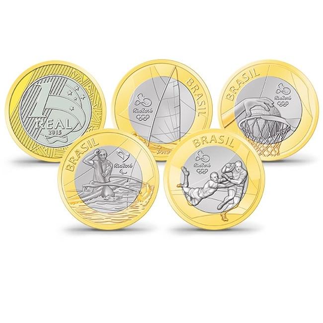 Монеты олимпиада в рио 2016 знак пятилетку в 4 года цена