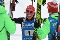 Немки выиграли эстафету на этапе Кубка мира в Антхольце, россиянки— пятые