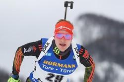 Немецкий биатлонист Долль— победитель спринта на ЧМ в Хохфильцене, Гараничев— десятый