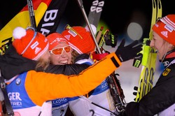 Немки выиграли эстафету на чемпионате мира в Хохфильцене, россиянки— десятые