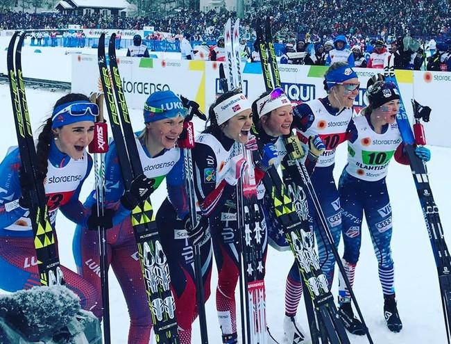 26.02.2017. Лыжные гонки. Чемпионат мира 2017, Лахти. Призёры женского командного спринта
