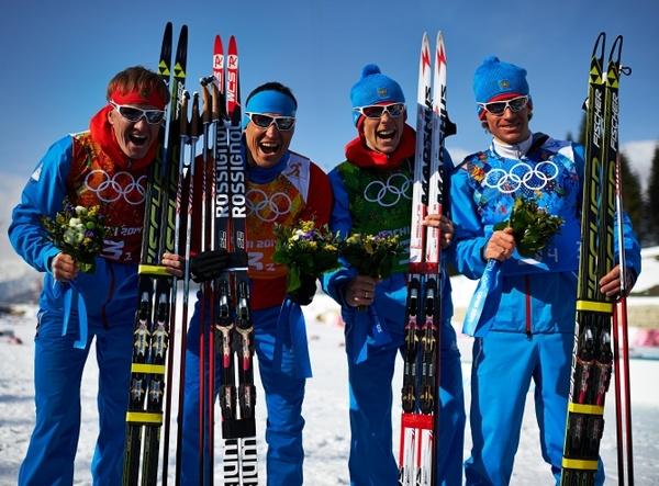 Лыжная гонка эстафета мужчины 16 02 2014 смотреть онлайн видео