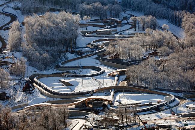 Санно-бобслейная трасса на Олимпиаде в Сочи - 2014