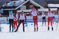 Лыжницы Белорукова и Царёва — чемпионки России 2019 года в командном спринте свободным стилем.